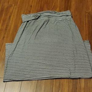 George - Black and White Striped Maxi Skirt XXL